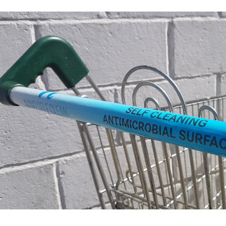New Self Cleaning Antimicrobial Trolley Push Handle Wrap size 10.16cm x 45.72cm - Single - Nanoselfclean™