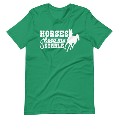 Horses Keep Me Stable Short-Sleeve Unisex T-Shirt