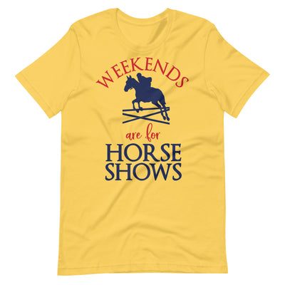 Weekends Are For Horse Shows Short-Sleeve Unisex T-Shirt