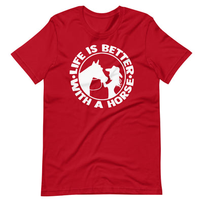 Life Is Better With A Horse Short-Sleeve Unisex T-Shirt