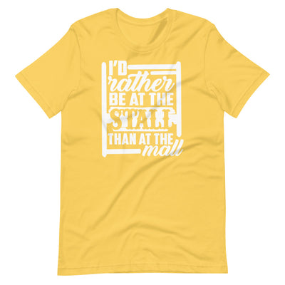 I'd Rather Be At The Stall Than At The Mall Short-Sleeve Unisex T-Shirt