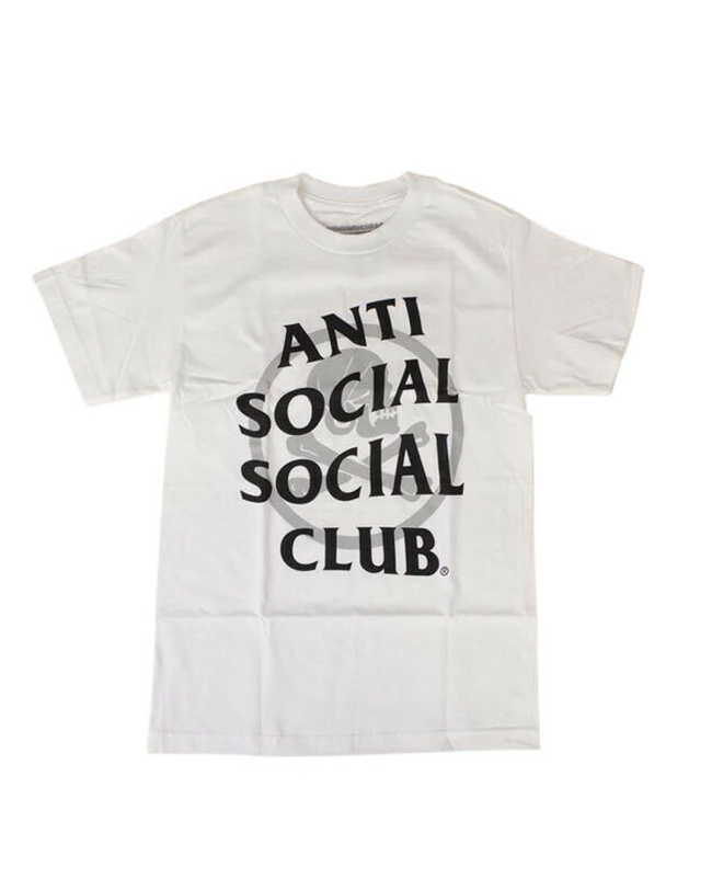 ANTI SOCIAL SOCIAL CLUB X NEIGHBORHOOD 'CAMBERED' T-SHIRT - WHITE