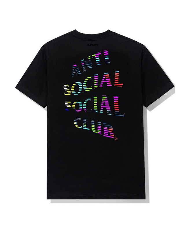Anti Social Fuzzy Connection Tee Black
