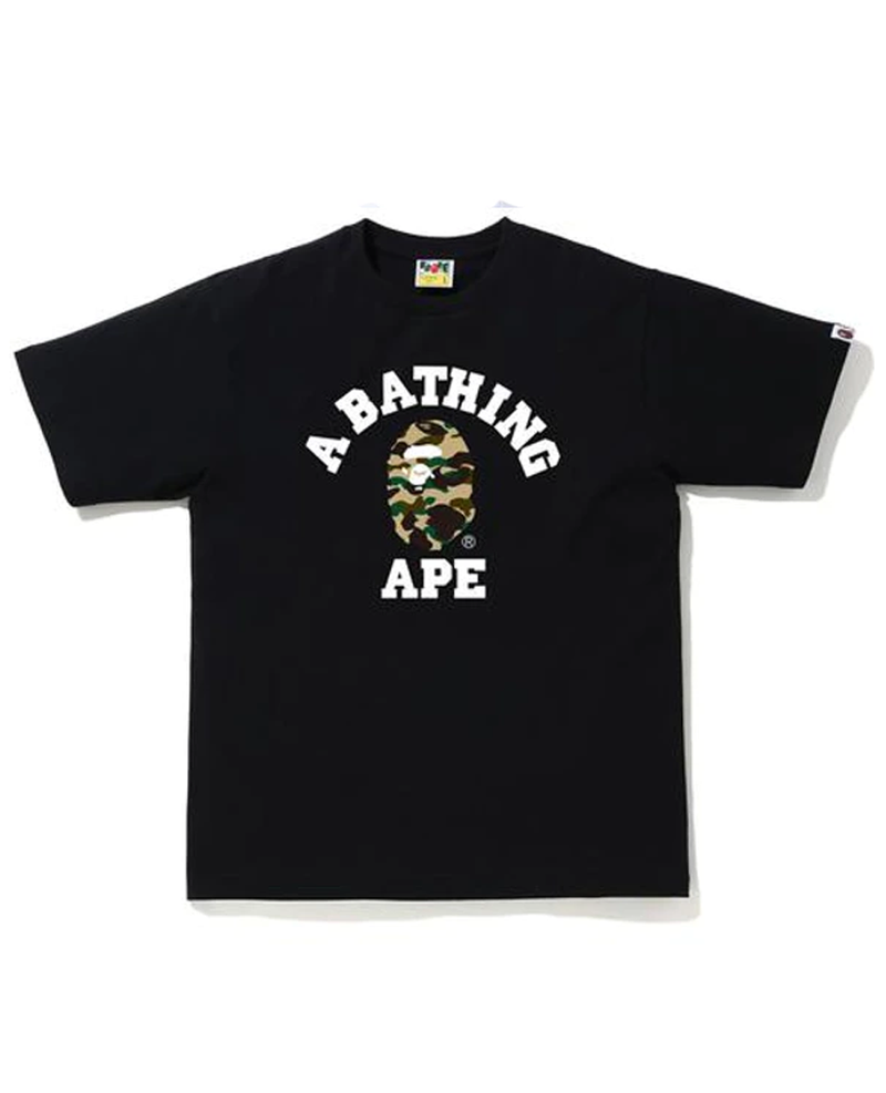 BAPE 1st Camo College T-Shirt (SS20) Black/Yellow