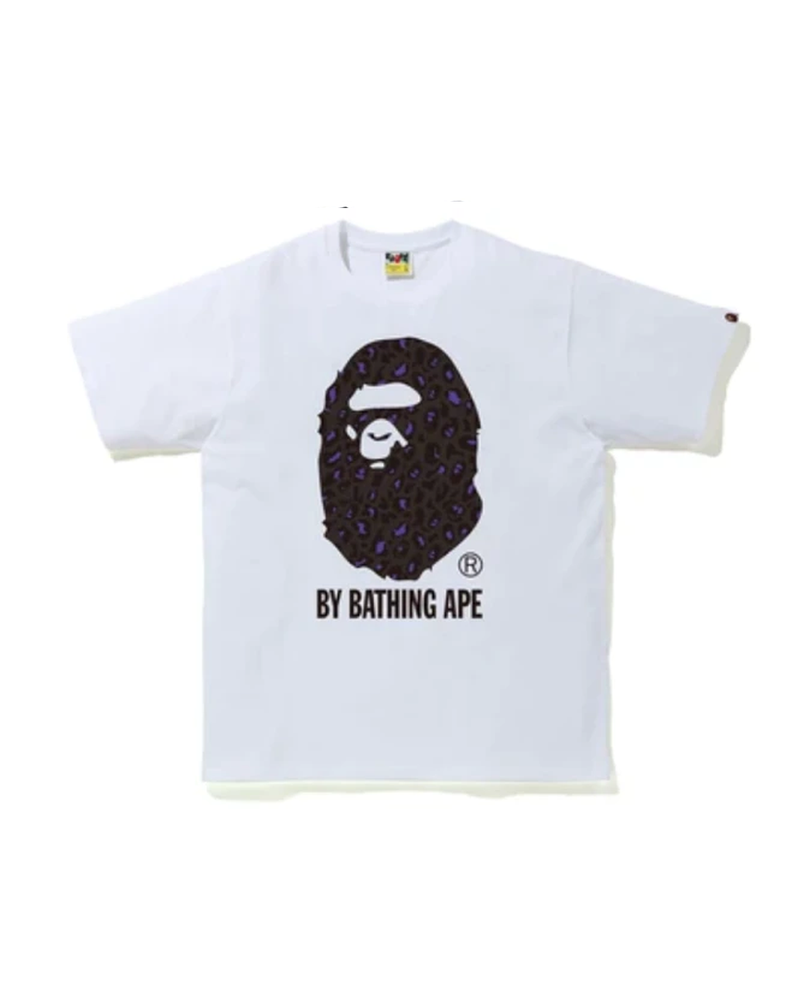 BAPE Leopard By Bathing Ape Tee White/Purple