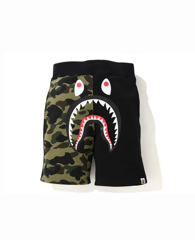 BAPE Shark Sweat Shorts Black Camo