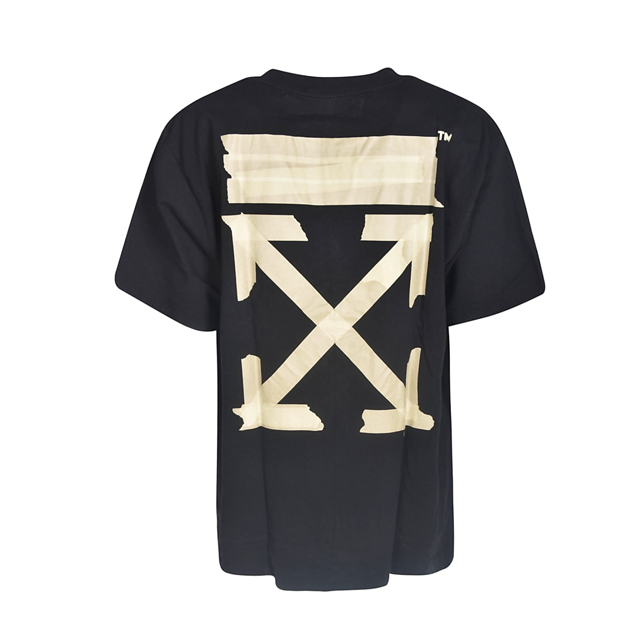Off-White Tape Arrows Tee Black
