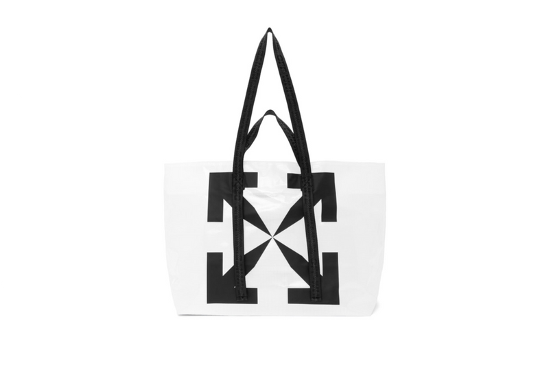 White Transparent Arrows Tyvek Tote