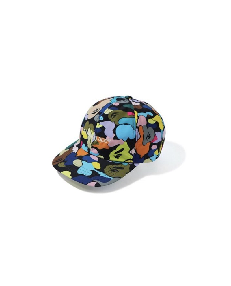 BAPE MULTI CAMO EMBROIDERY PANEL CAP