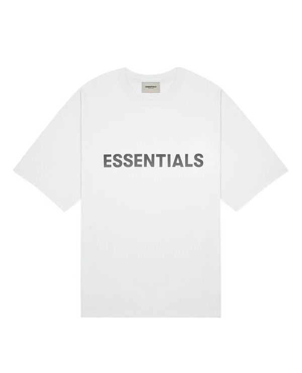 FEAR OF GOD ESSENTIALS 3D Silicon Applique Boxy T-Shirt White
