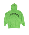 NWT PALM ANGELS Green Cotton Sensitive Content Hoodie Sweatshirt