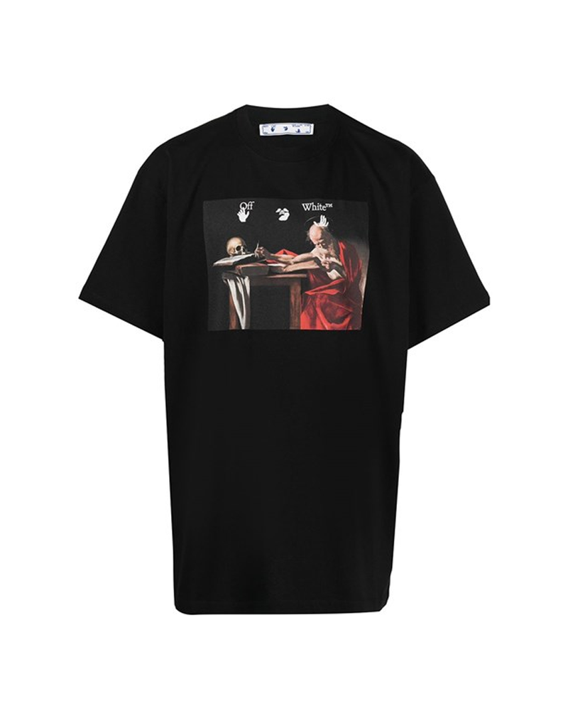 Off-White Black t-shirt with Caravaggio print