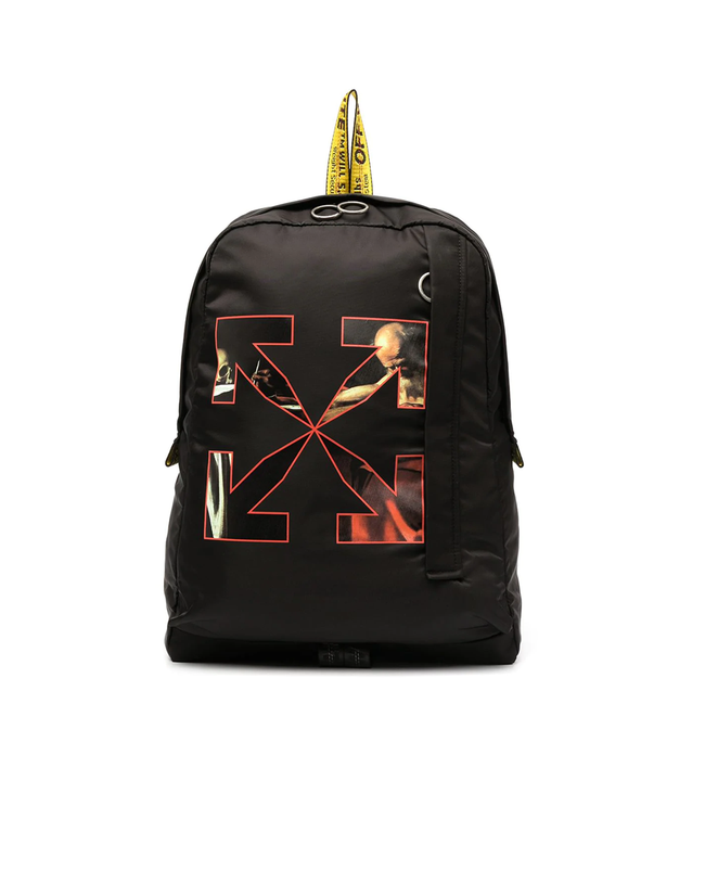 Off-White Caravaggio arrow logo backpack