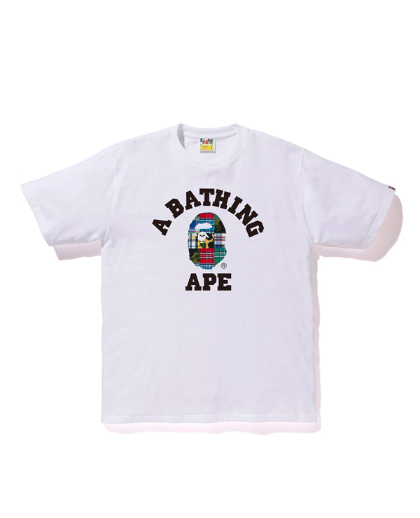 PATCHWORK COLLEGE TEE WHITE