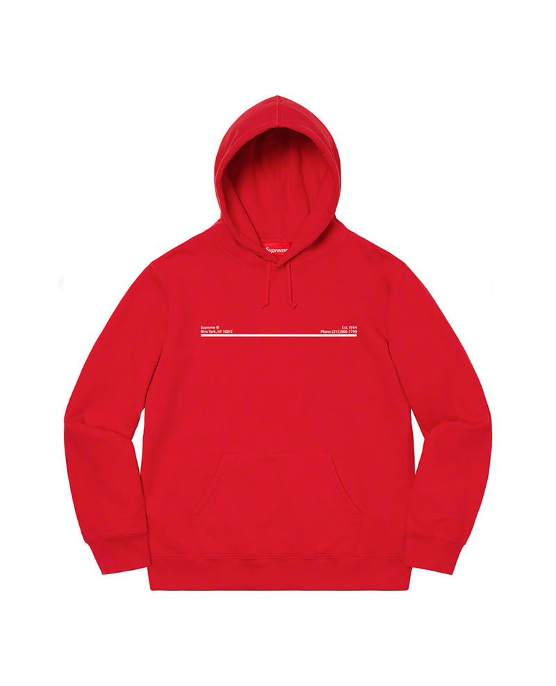 Supreme Shop Hooded Sweatshirt Red New York City