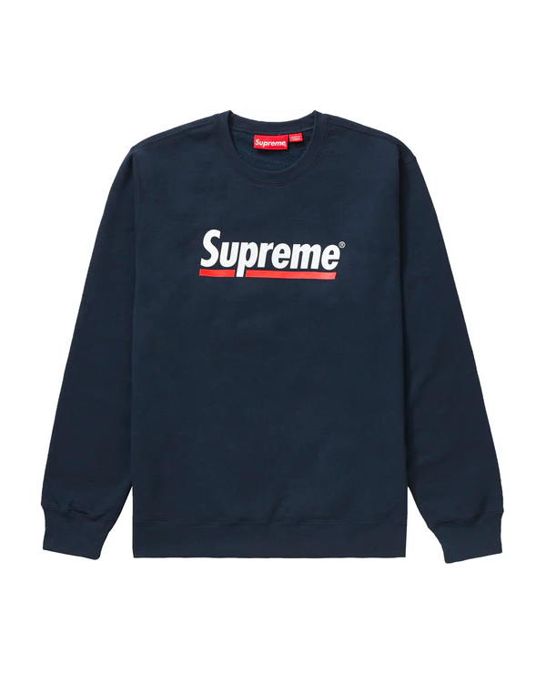 Supreme Underline Crewneck Navy