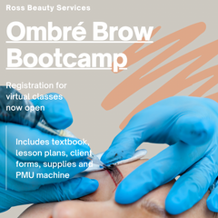 ombre brow class flyer