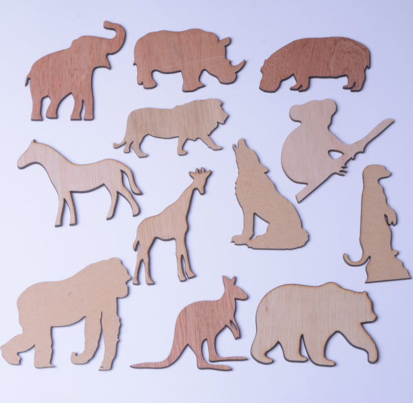 Animals selection pack , Plywood