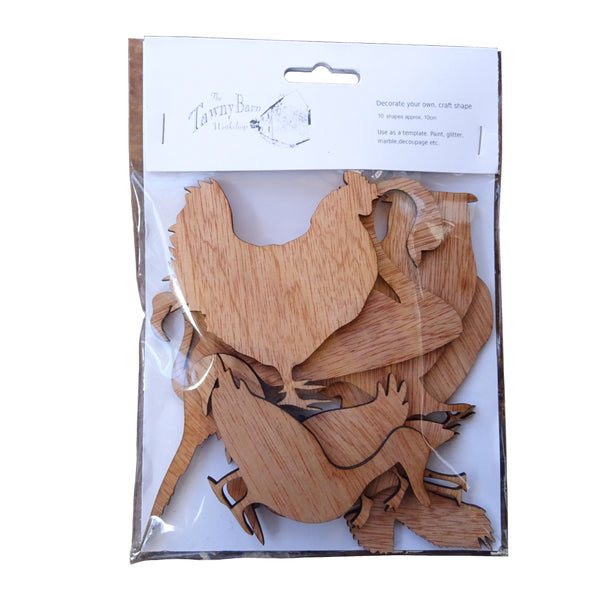 Birds selection pack , Plywood