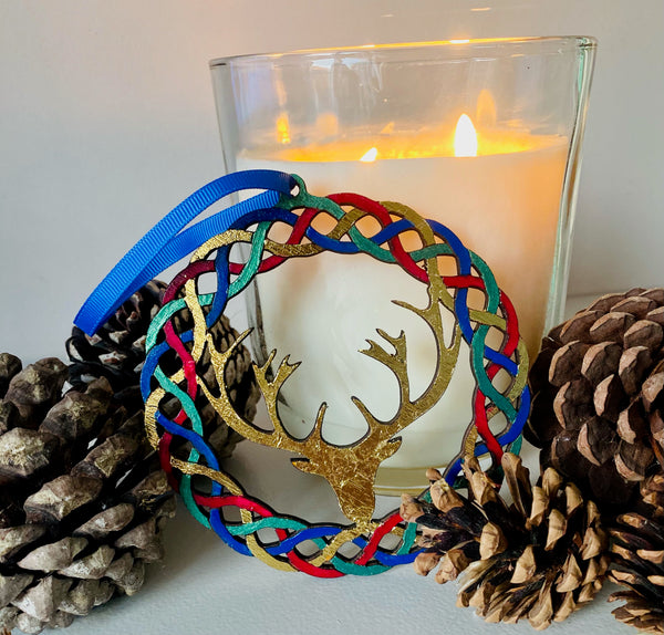 Celtic style wreath with antlers