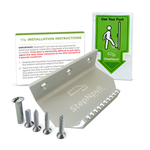 Matte Silver Step and Pull Door Lever Bundle