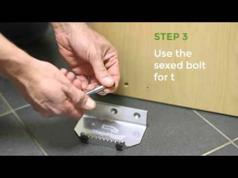 How to install door pull