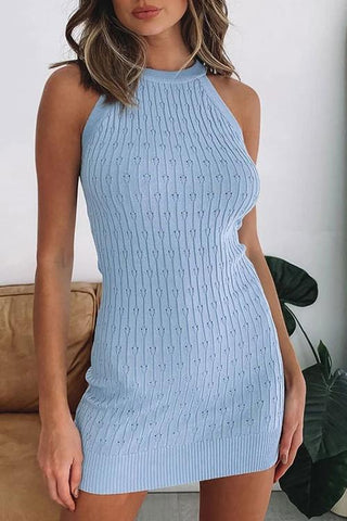 Knit Halter Vest Dress