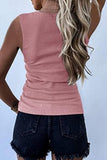 V-Neck Slim-Fit Sleeveless T-Shirt