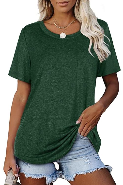 Pure Color All Match Short Sleeve T-Shirt