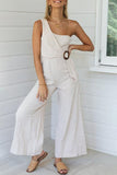 One Shoulder Strap Casual Jumpsuit