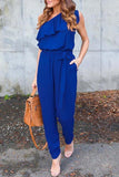 Ruffle One Shouldr Jumpsuit