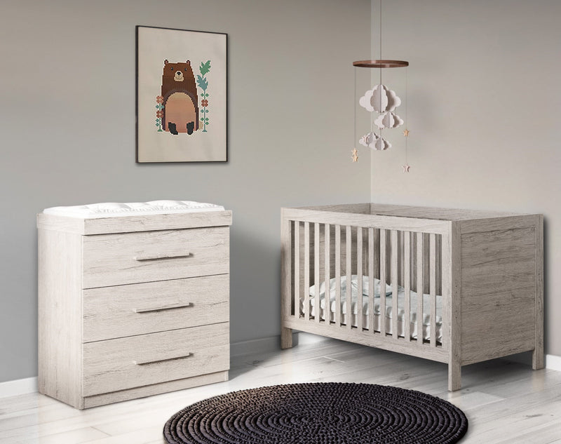 Ickle Bubba Grantham 2 Piece Baby Furniture Set