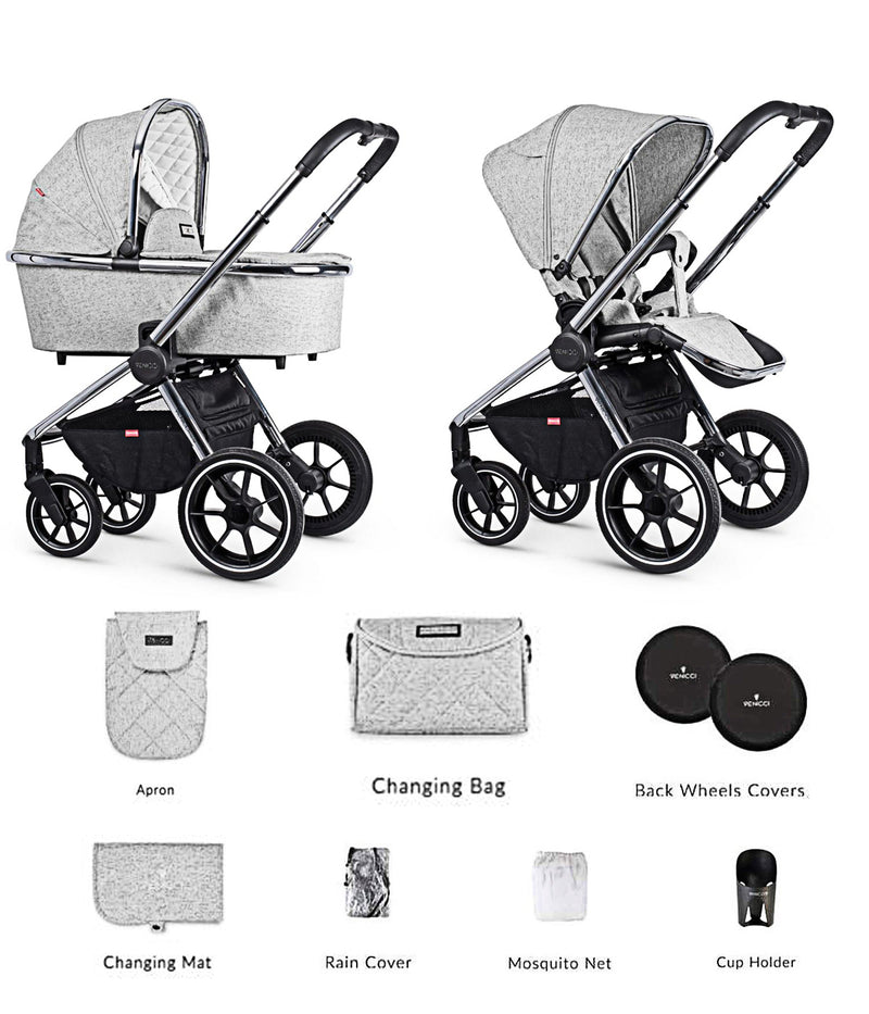 Venicci Tinum Travel System Light Grey