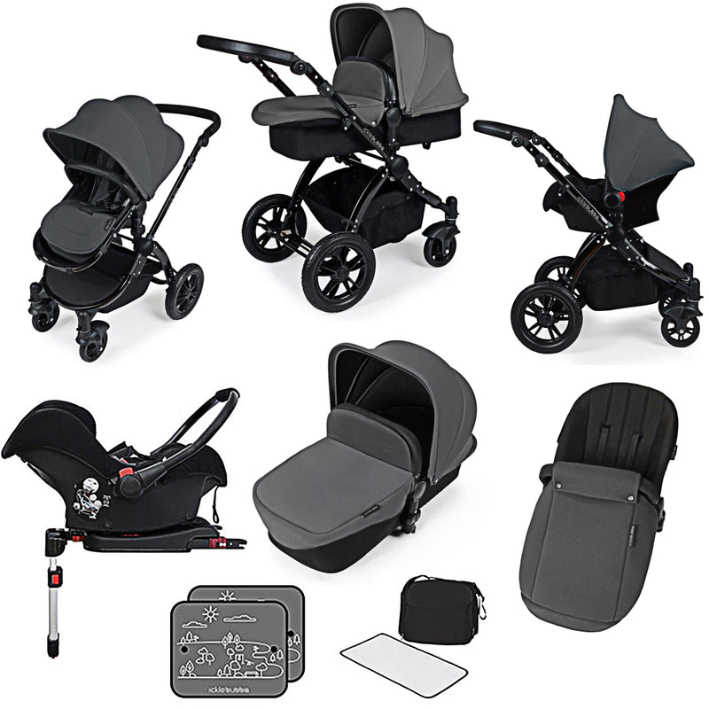 Ickle Bubba Stomp V3 Galaxy All In One with Isofix Base Graphite