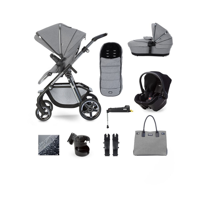 Silvercross Pacific 2020 Autograph Ink Simplicity Plus Car seat & ISOFIX Base Bundle Rock
