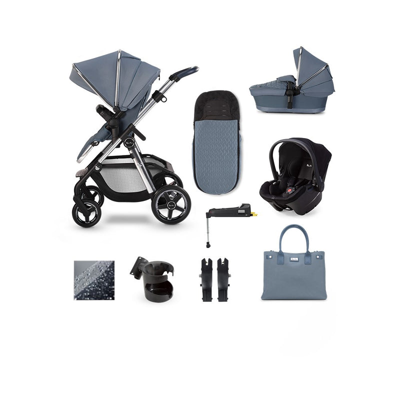 SilverCross Pioneer 2020 Simplicity Plus Car seat  & ISOFIX Base Bundle Sky