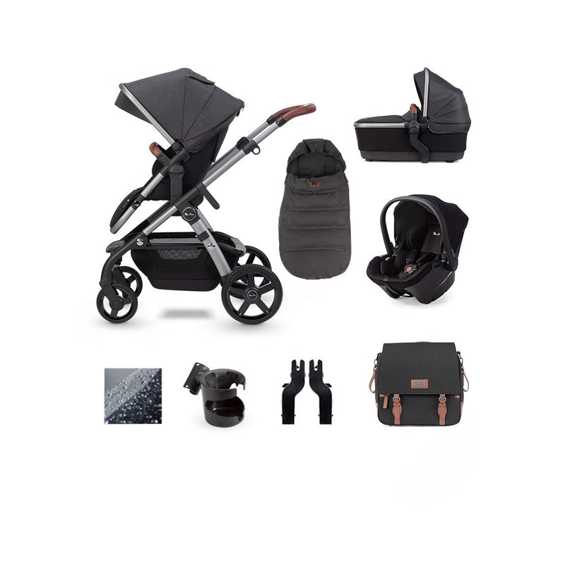 SilverCross Wave 2020 Charcoal Simplicity Plus Car Seat  Bundle- Charcoal
