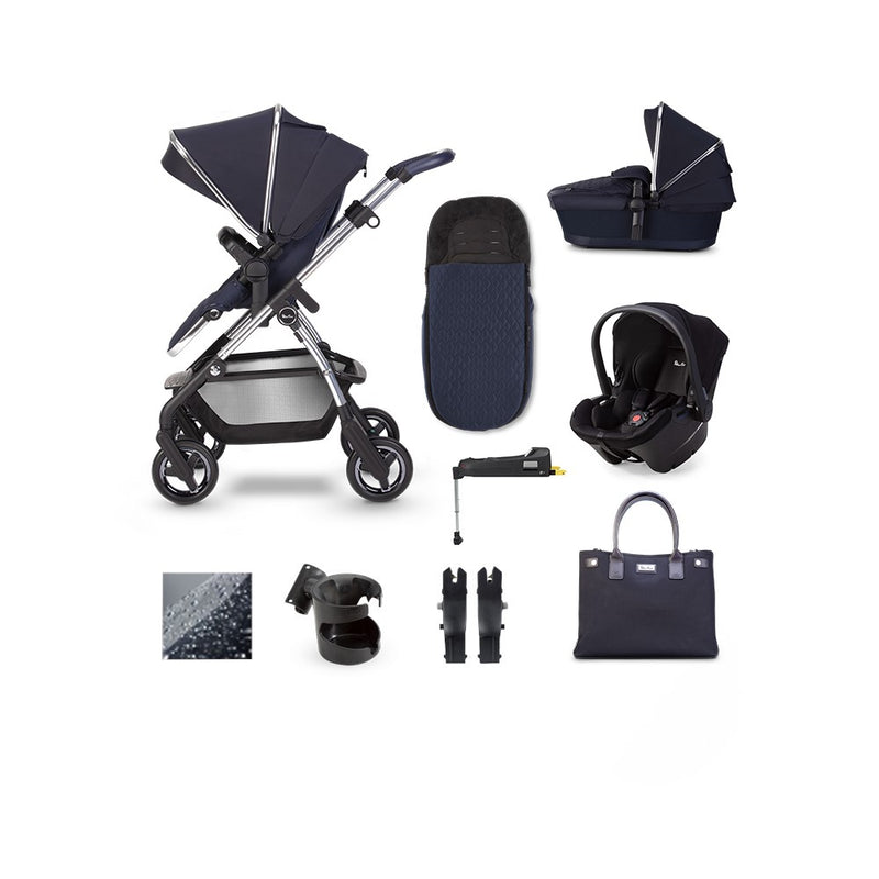 SilverCross Wayfarer 2020 Pepper Simplicity Plus & ISOFIX Base Bundle Sapphire