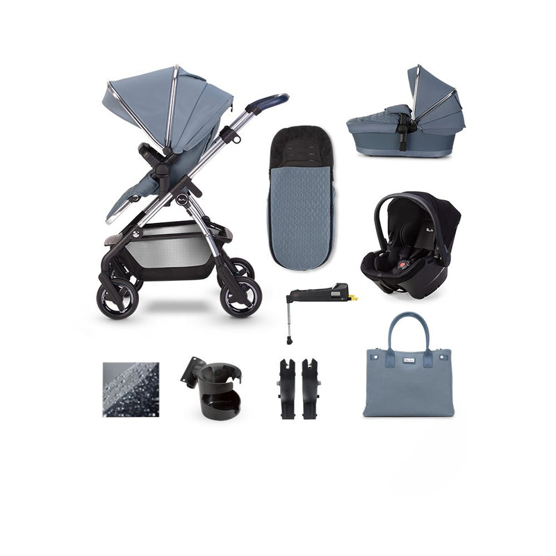 Silver Cross Wayfarer 2020 Pepper Simplicity Plus & ISOFIX Base Bundle Sky