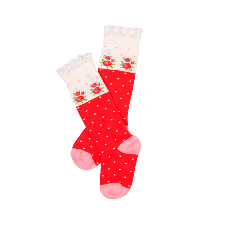 Coming Up Roses Mid-Calf Socks