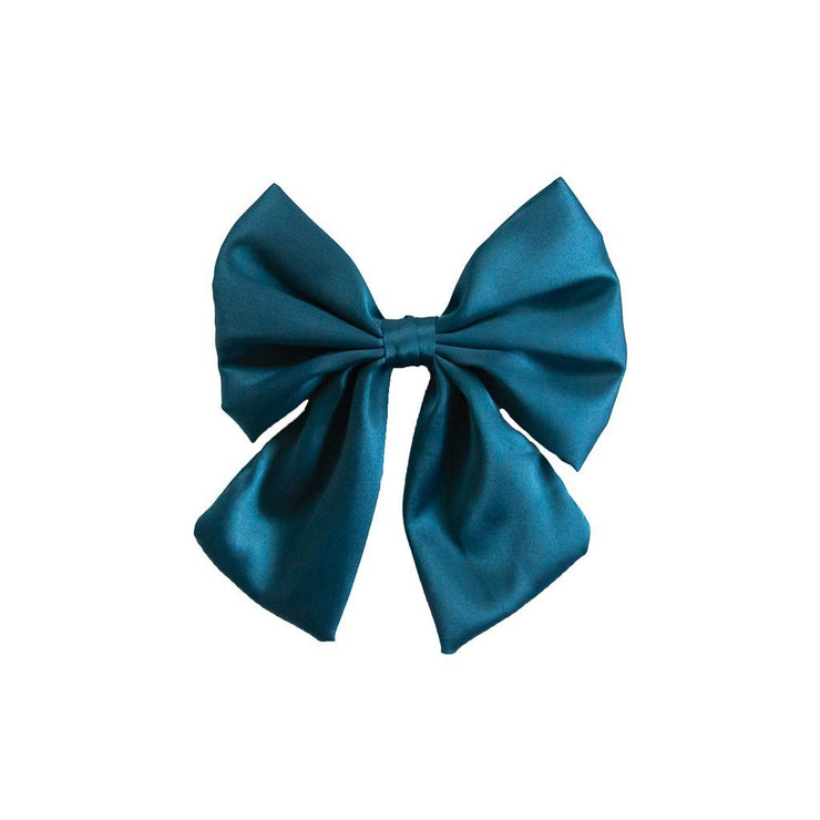 Angel Blue Satin Bow