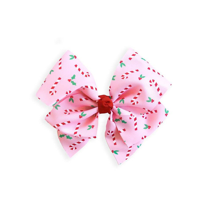 Candy Cane Grosgrain Bow