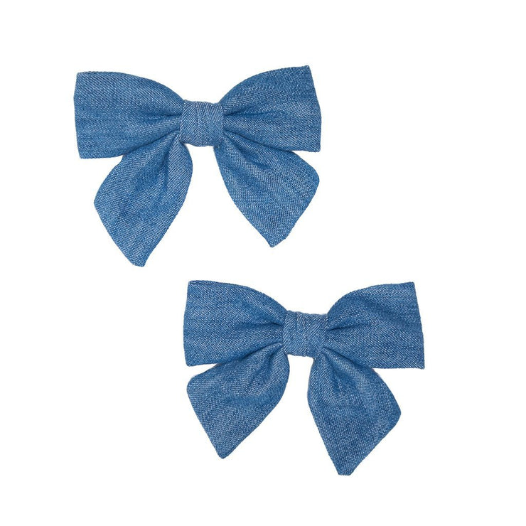 Cher Chambray Mindy Bows