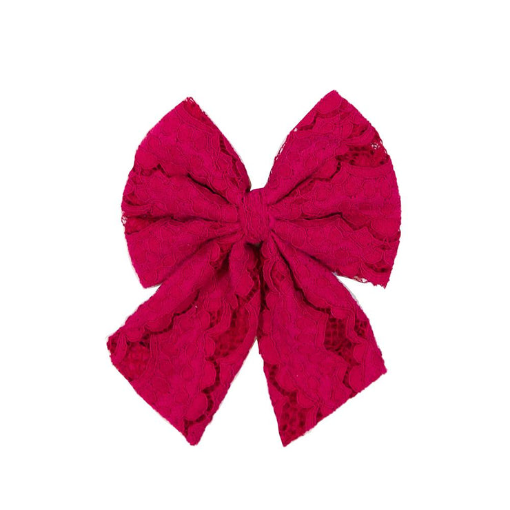 Cranberry Lace Bow