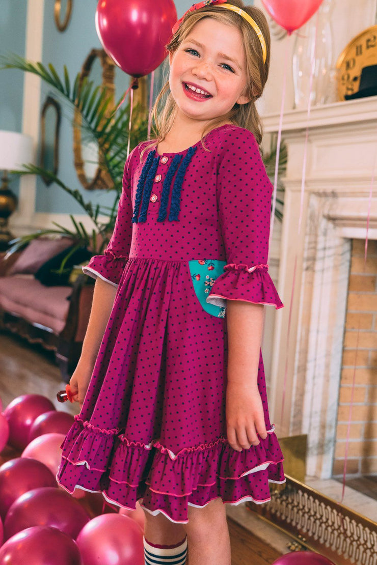 Pretty In Plum Boho Dress