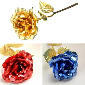 Birthday Wedding Gift Gold Plated Rose Lover's Flower Dipped Rose Eternal Love