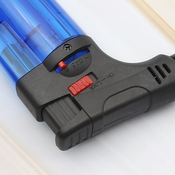 Outdoor Flame Gun Butane Jet Torch Burner Welding Soldering Lighter for Cigar Kitchen BBQ ( WITHOUT GAS )