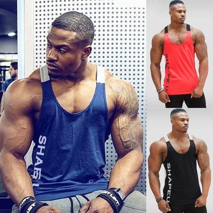 Men Muscle Fitness Tank Top Bodybuilding Workout Gym Sport Sleeveless Vest