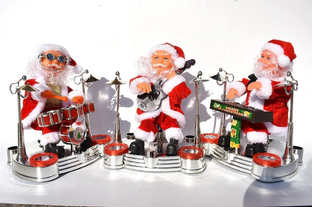 2020 New Upgrade Inverted Electric Street Dance Singing Santa Claus Music Children Toys Christmas Decorations for Home Christmas Ornament Party Decor Beautiful Celebration Christmas Toys