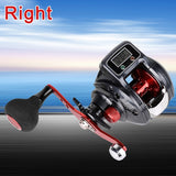 Metal Fishing Reel Right Left Digital Display Rod Accessories Fishing Tool 16+1 6.3:1